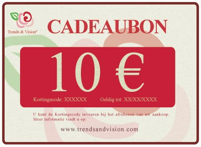Trends & Vision Cadeaubon 10 euro (Giftvoucher 10 euro - 10) | Trends & Vision