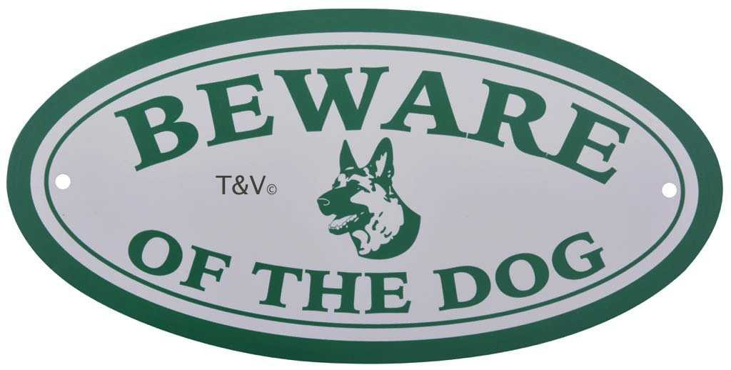 "Esschert Design Bord ""Beware of the dog"" (HB22 - 8714982112324) 