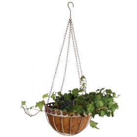 Hanging basket Aged Metal groot